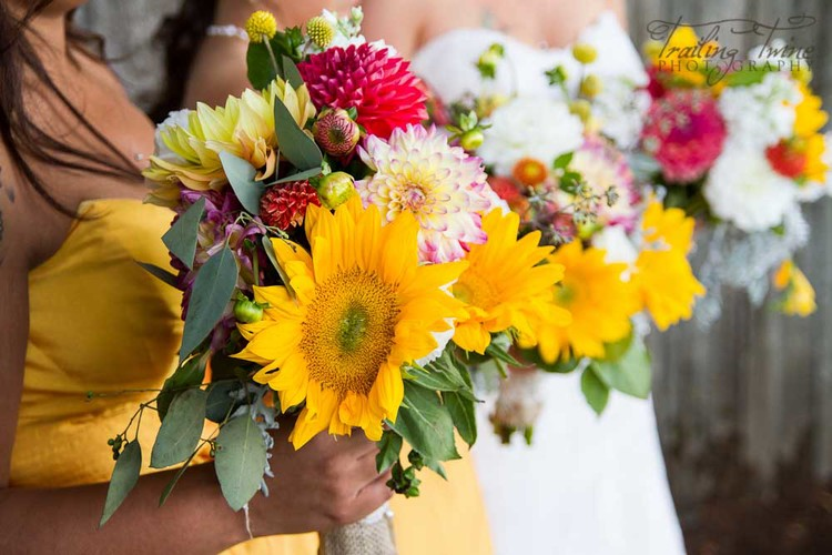 Add huge sunflowers for a big and bold effect.