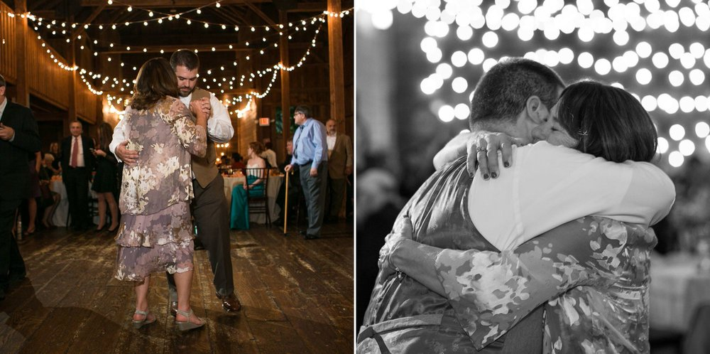 There are so many dances with grooms and moms that were totally amazing to watch and photograph. This one at the Barns at Wesleyan Hills in particular stands out to me, because it was such a special moment especially for mom.