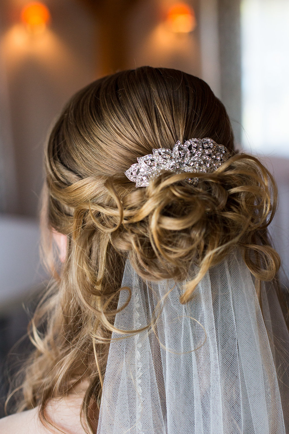 bridal hair by The Salon in Southbridge, MA