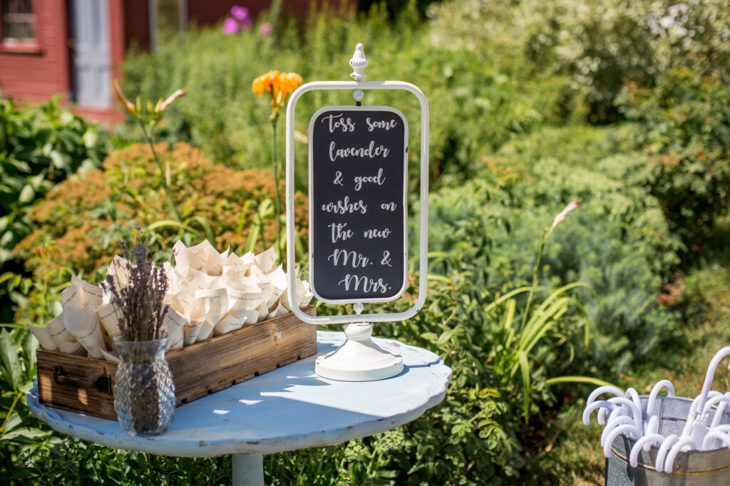 sign for guests instructions for lavender