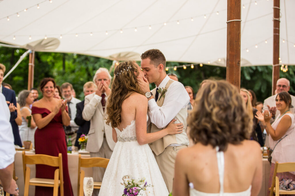 first dance at Holliston Barn in MA