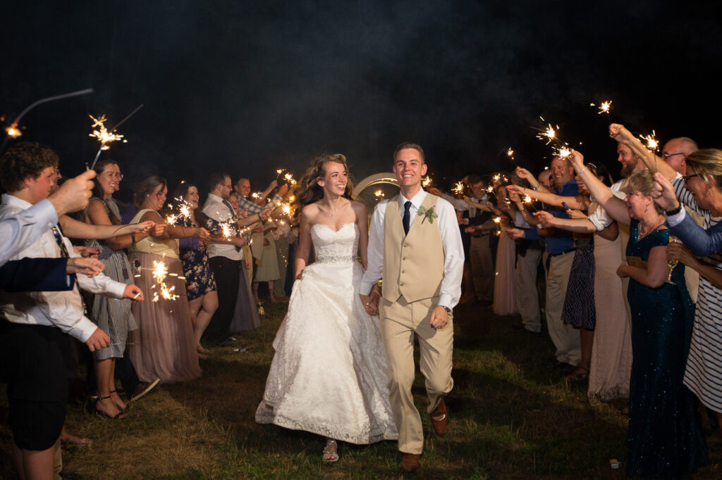 sparkler exit at Holliston barn