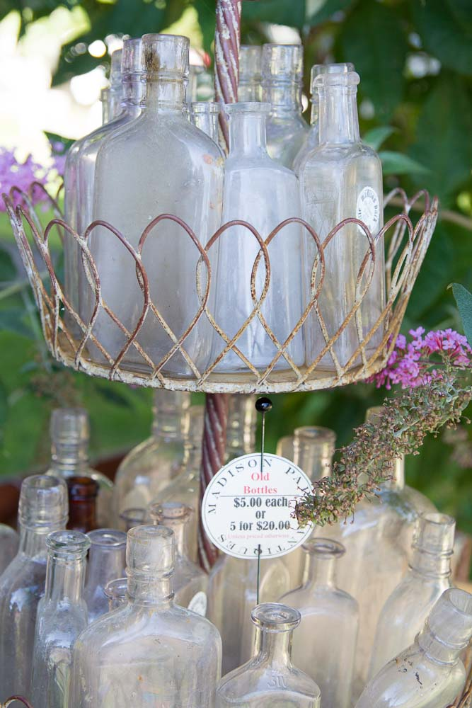 old glass flasks