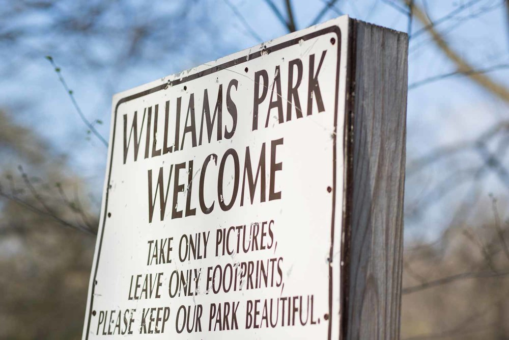 A sign at Williams Park...we obeyed. ;-)