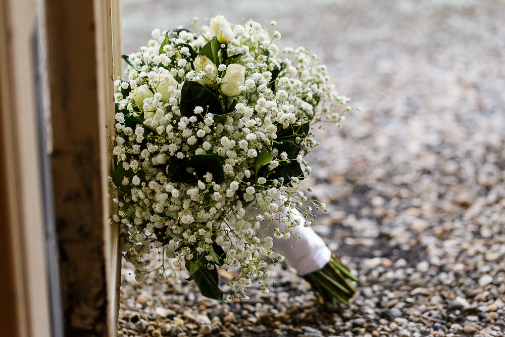 This simple, Baby's Breath bouquet was for a simple wedding at Rocky Neck State Park in Connecticut.