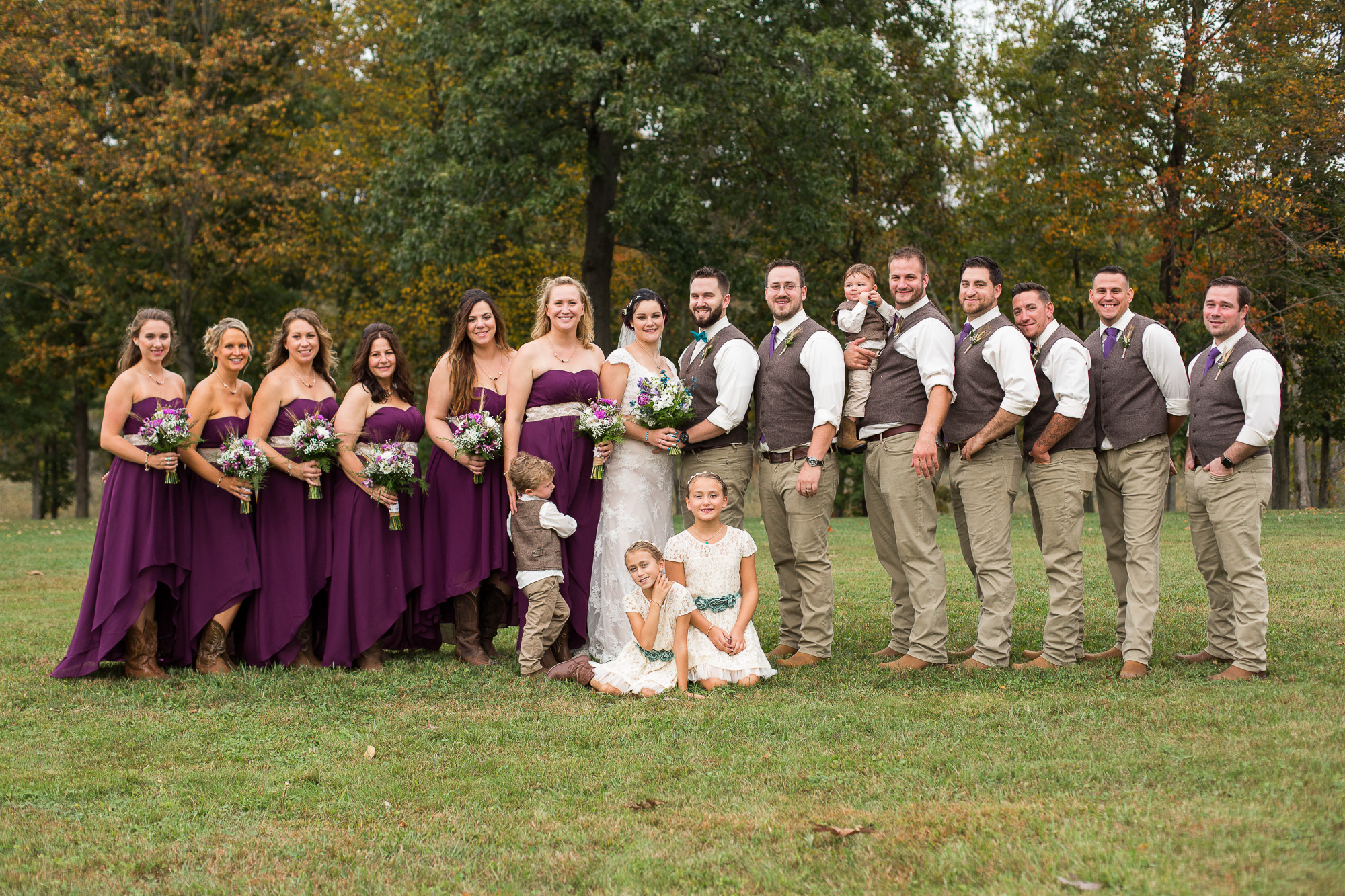 wedding party photo at Candlelight Farms Inn
