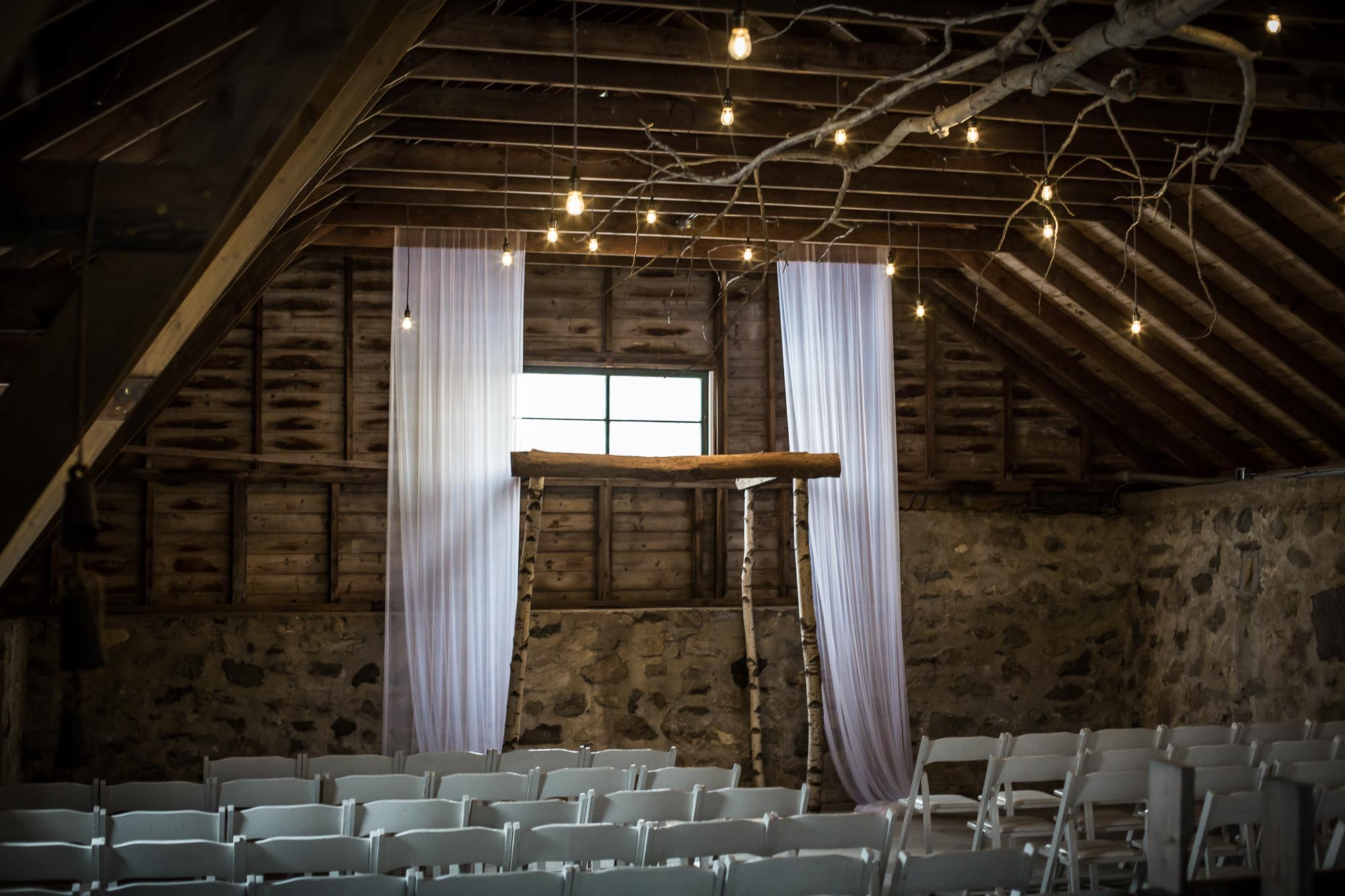 indoor ceremony at South Farms CT wedding venue